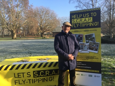 Cllr John Fisher Launches the S.C.R.A.P. Fly-Tipping Campaign